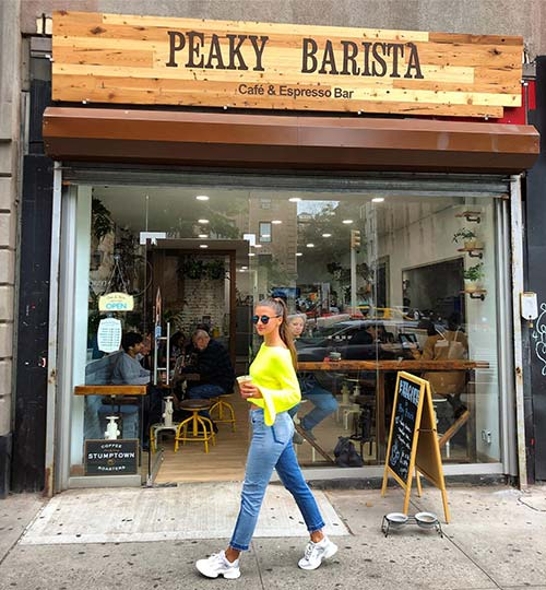 Peaky Barista Coffee Shop Front Side